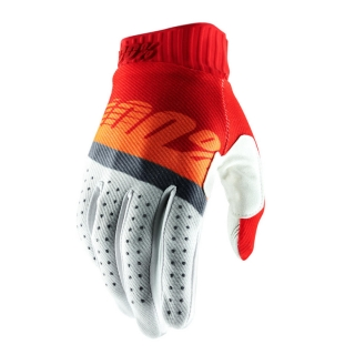 Motokrosové rukavice 100% RIDEFIT RED/FLO ORANGE/SLATE